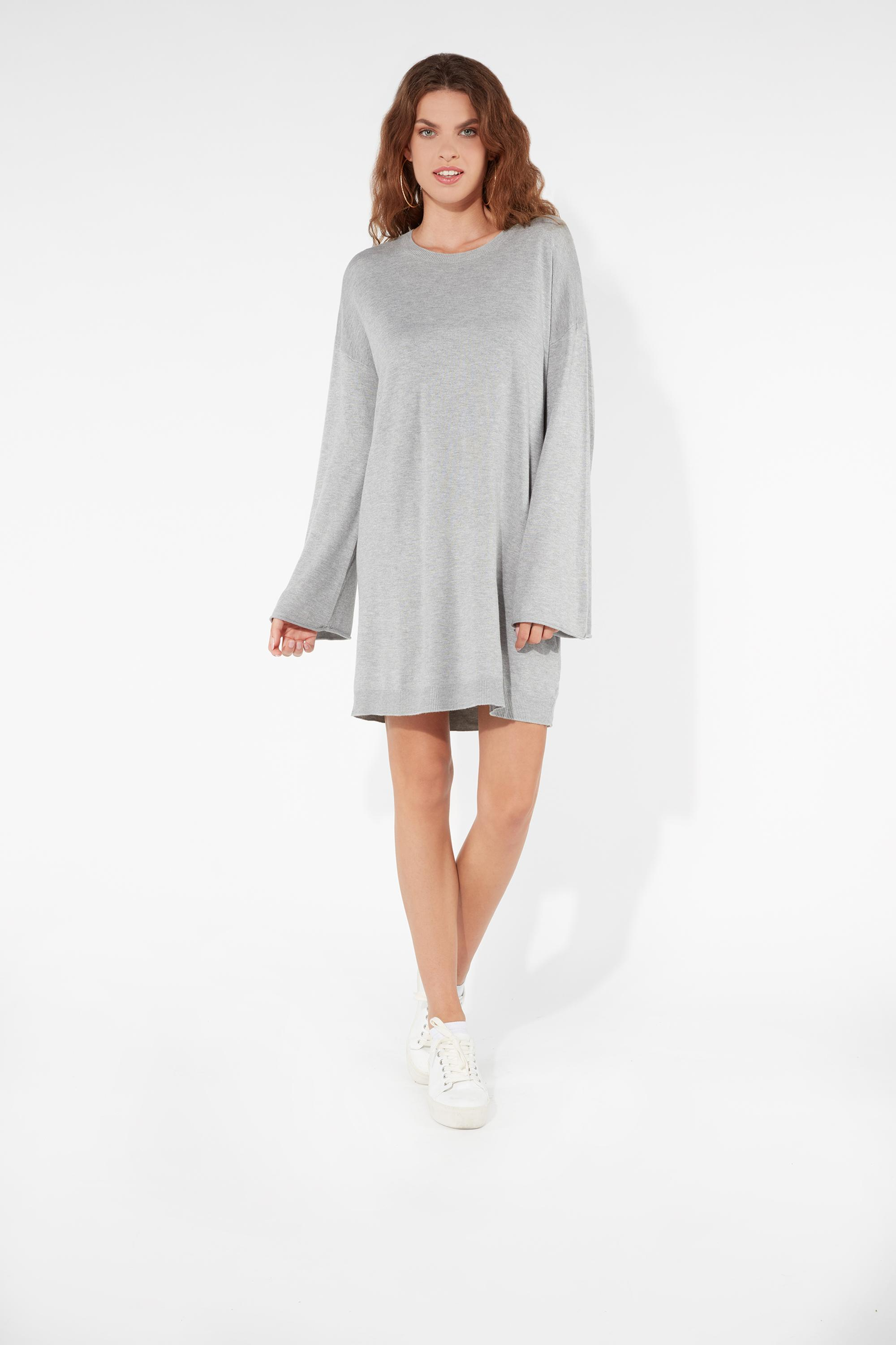 c66bc3599d7 Long-Sleeved Oversized Jumper Dress - Tezenis