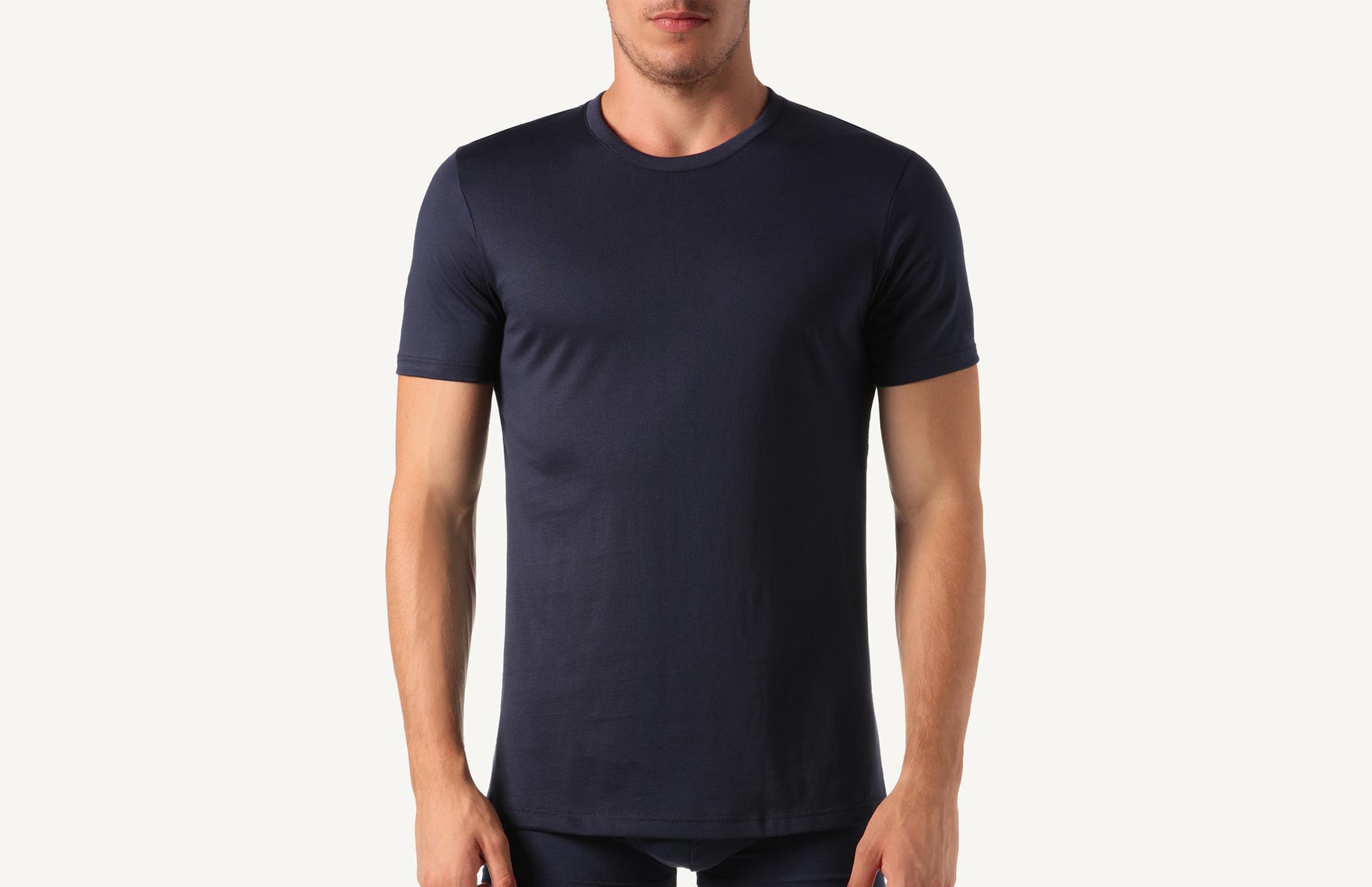 9737ceb97586e8 T-Shirt à Manches Courtes et Col Rond en Coton Supima® - Intimissimi