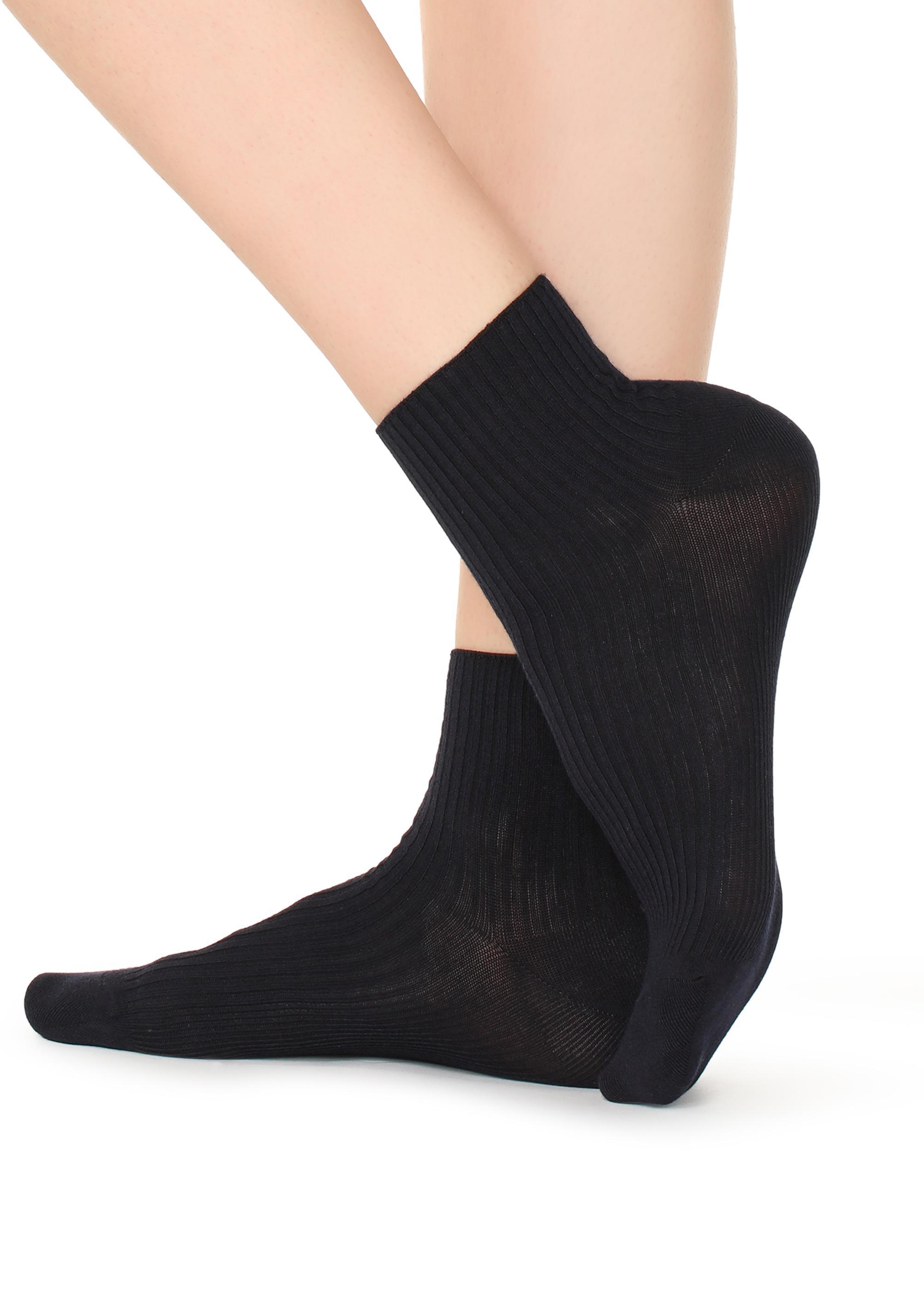504b096f8 Short Ribbed Cotton Socks - Calzedonia