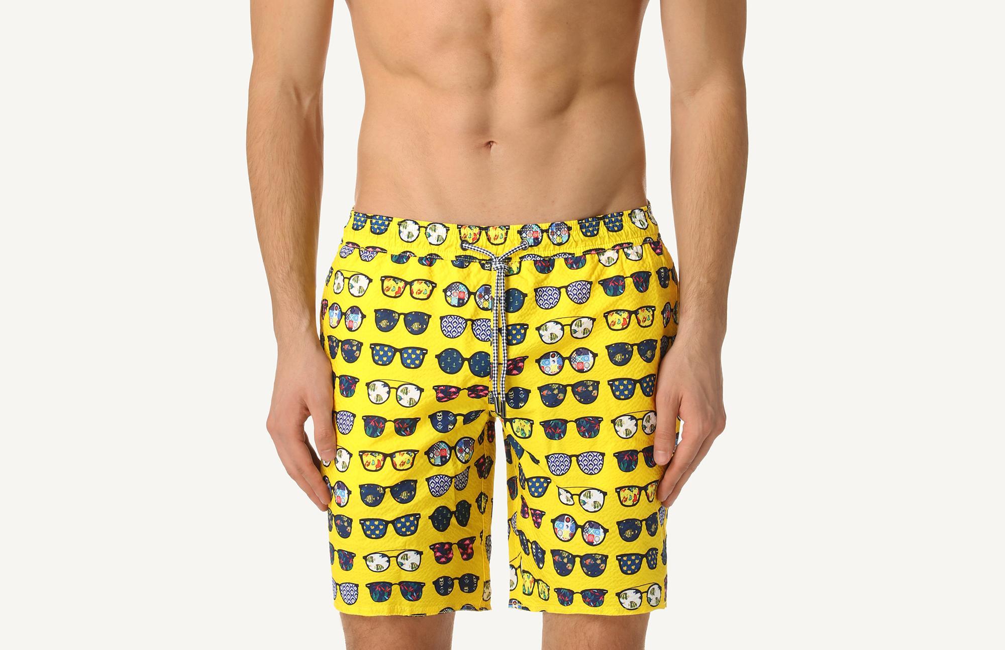 b51bb7ce7b Glasses Print Mid-Length Swim Shorts - Intimissimi