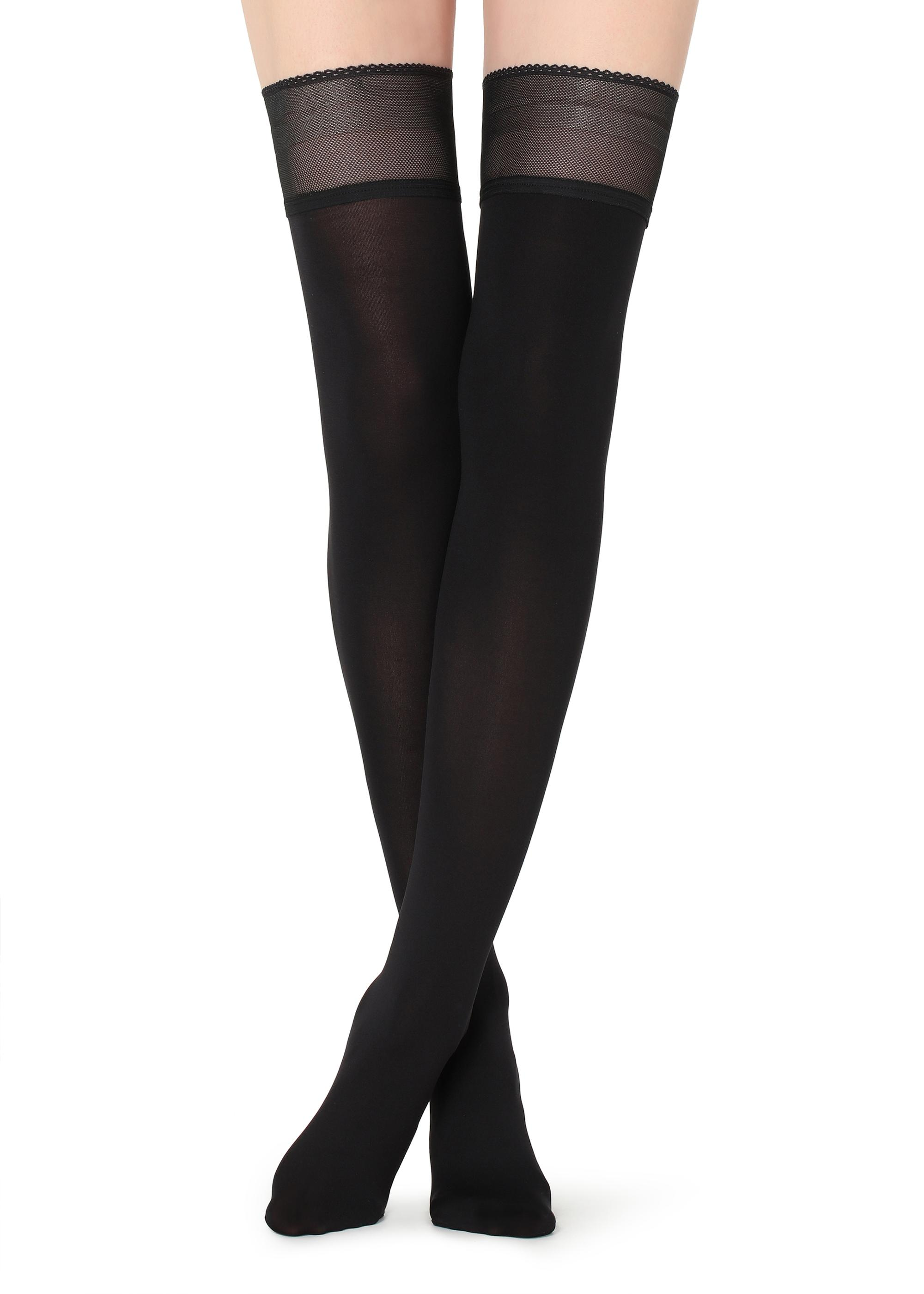 324bf214f03 Opaque soft touch hold-ups - Calzedonia