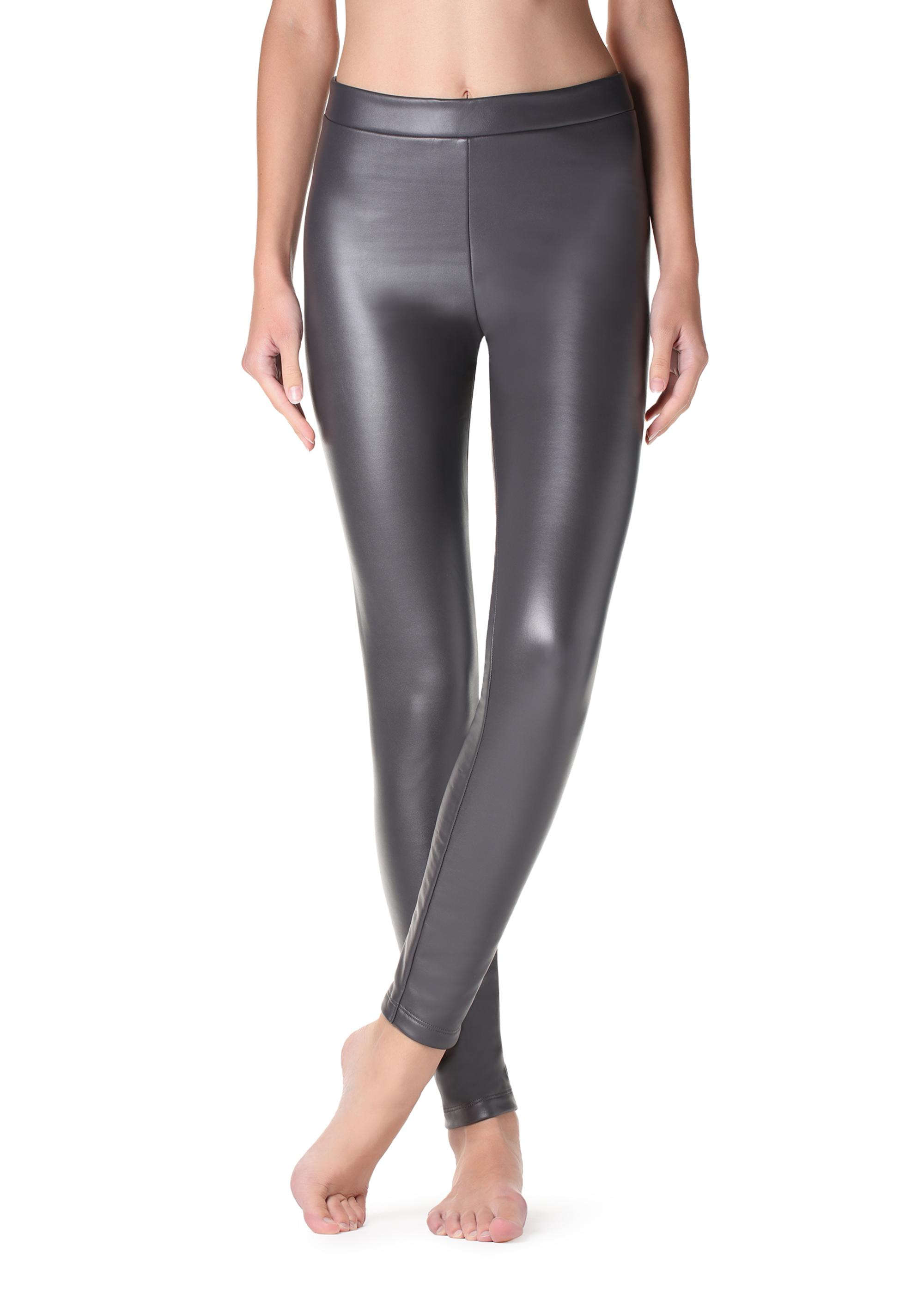 3187098f852 Ultra thermal leather-effect leggings - Calzedonia