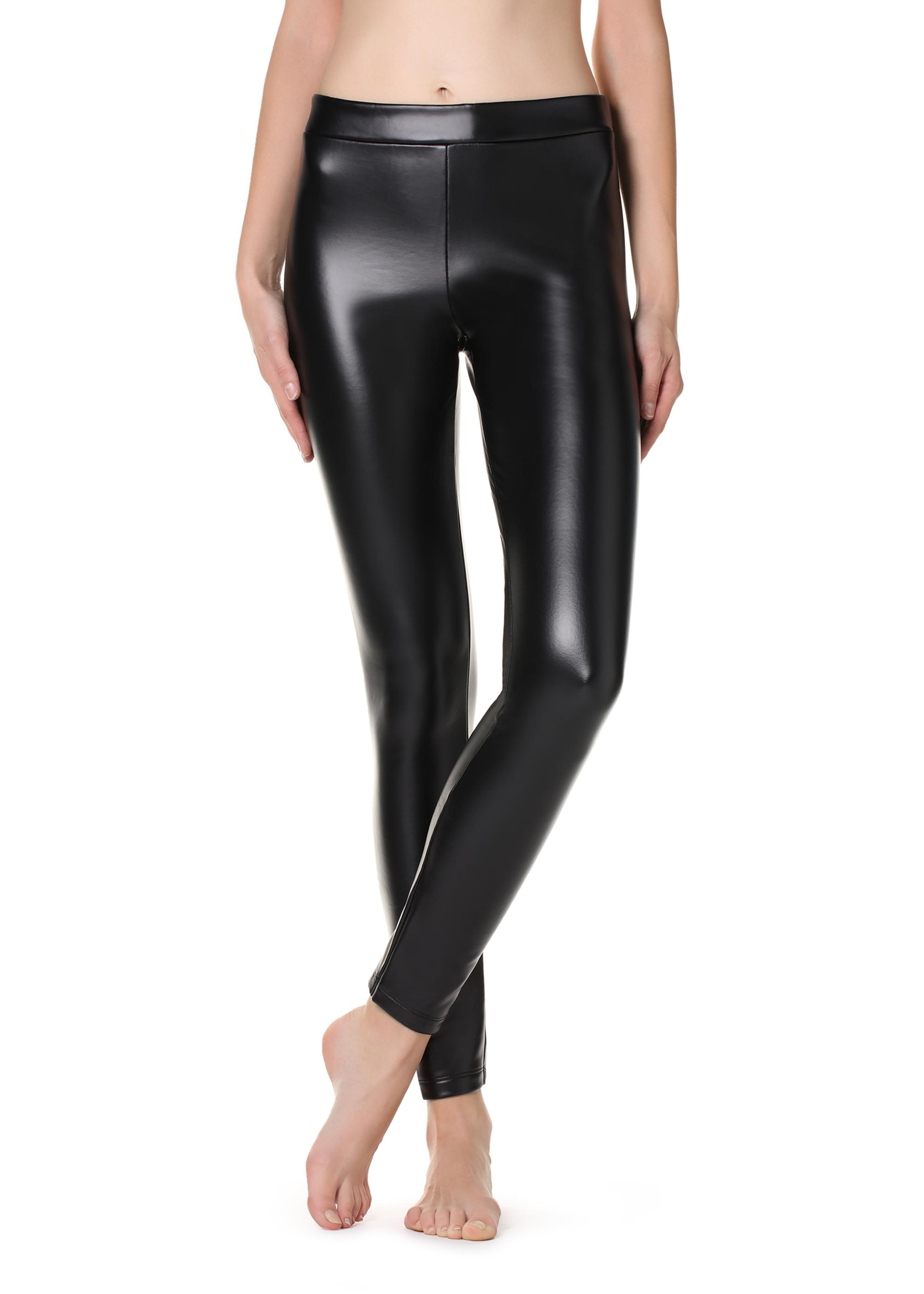 2732aed3ec0ff7 Thermal leather-effect leggings - Calzedonia