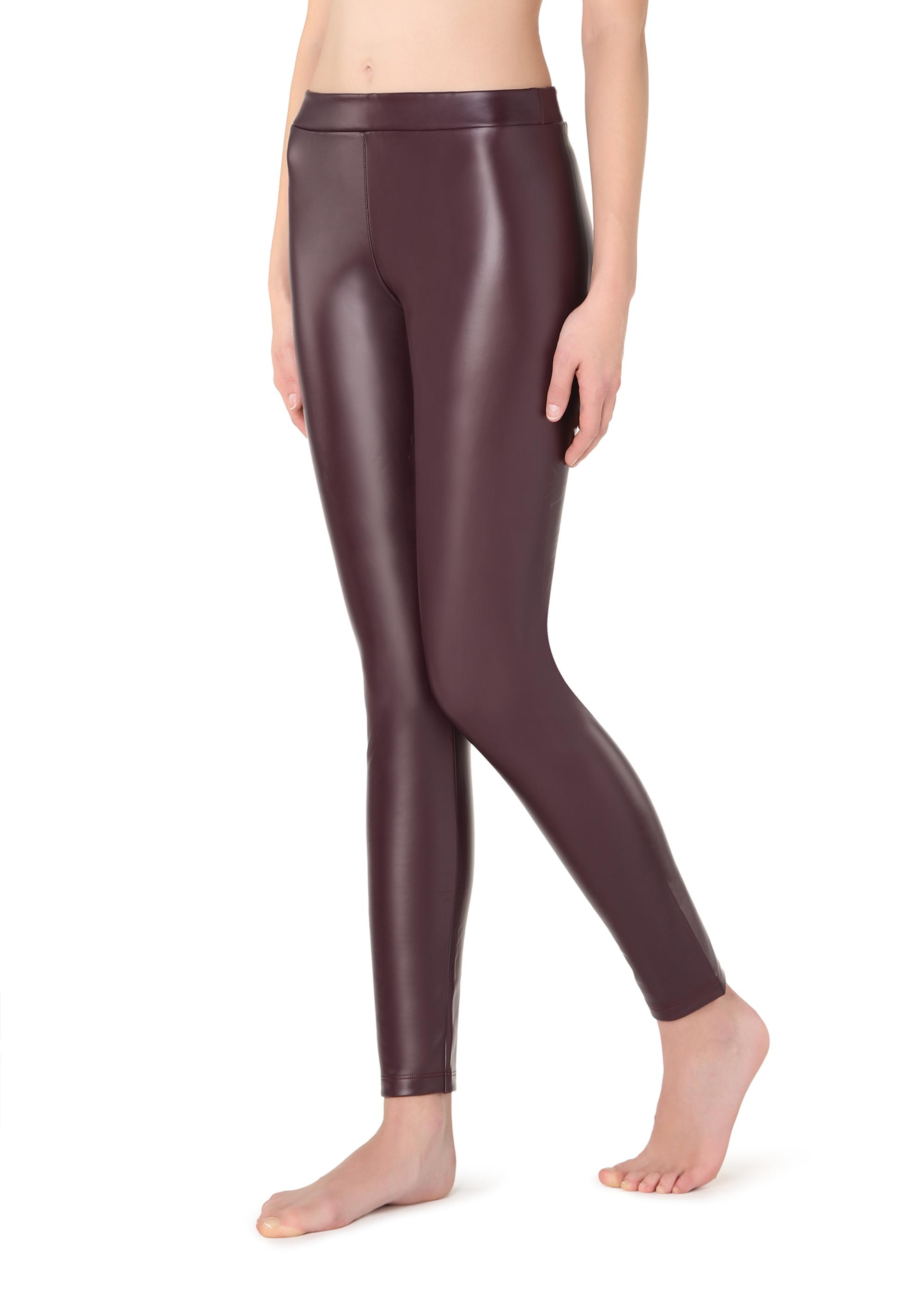 a5c746b751902 Thermal leather-effect leggings - Calzedonia