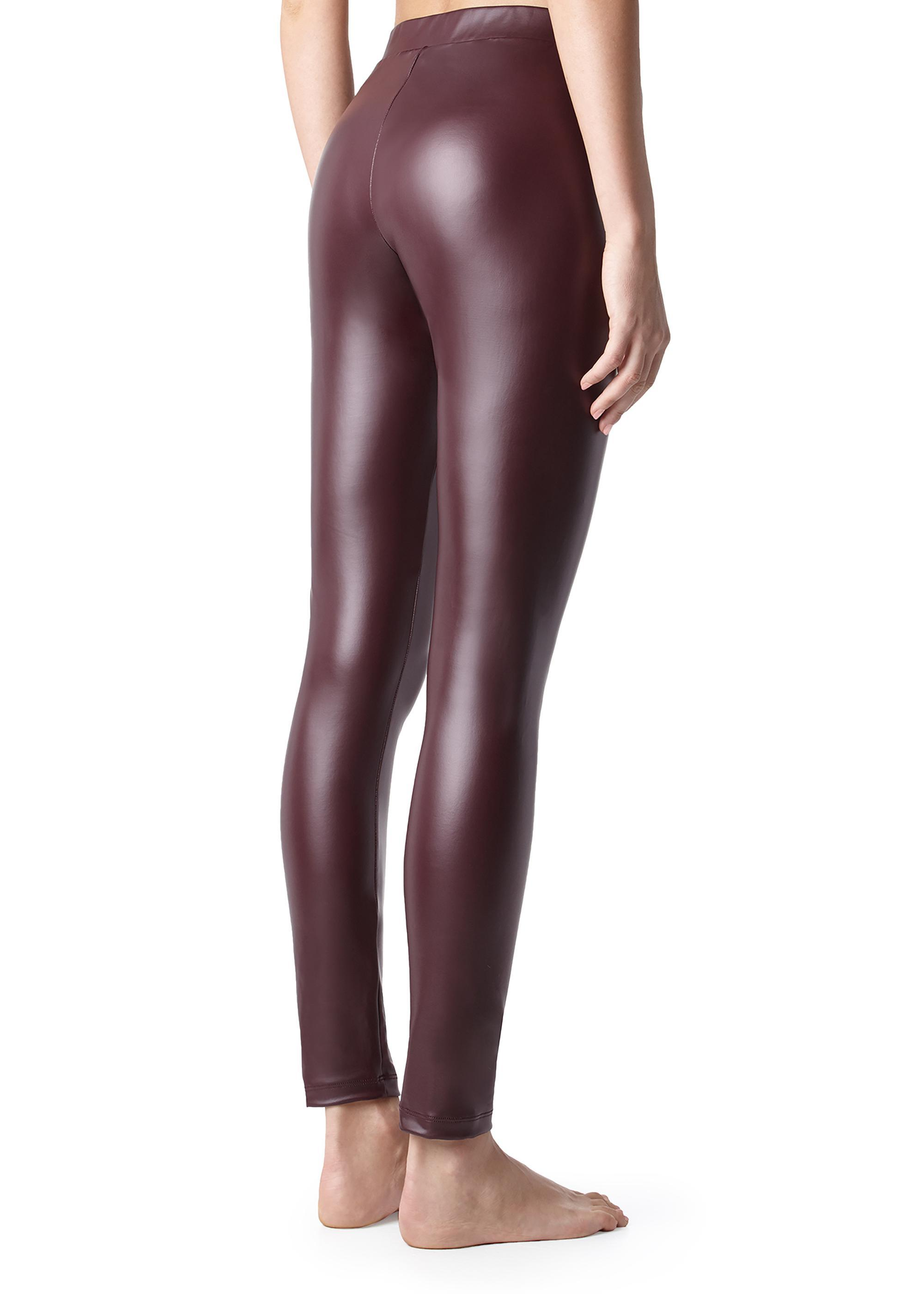 098c13b62adf8a Thermal Leather Effect Leggings - Calzedonia