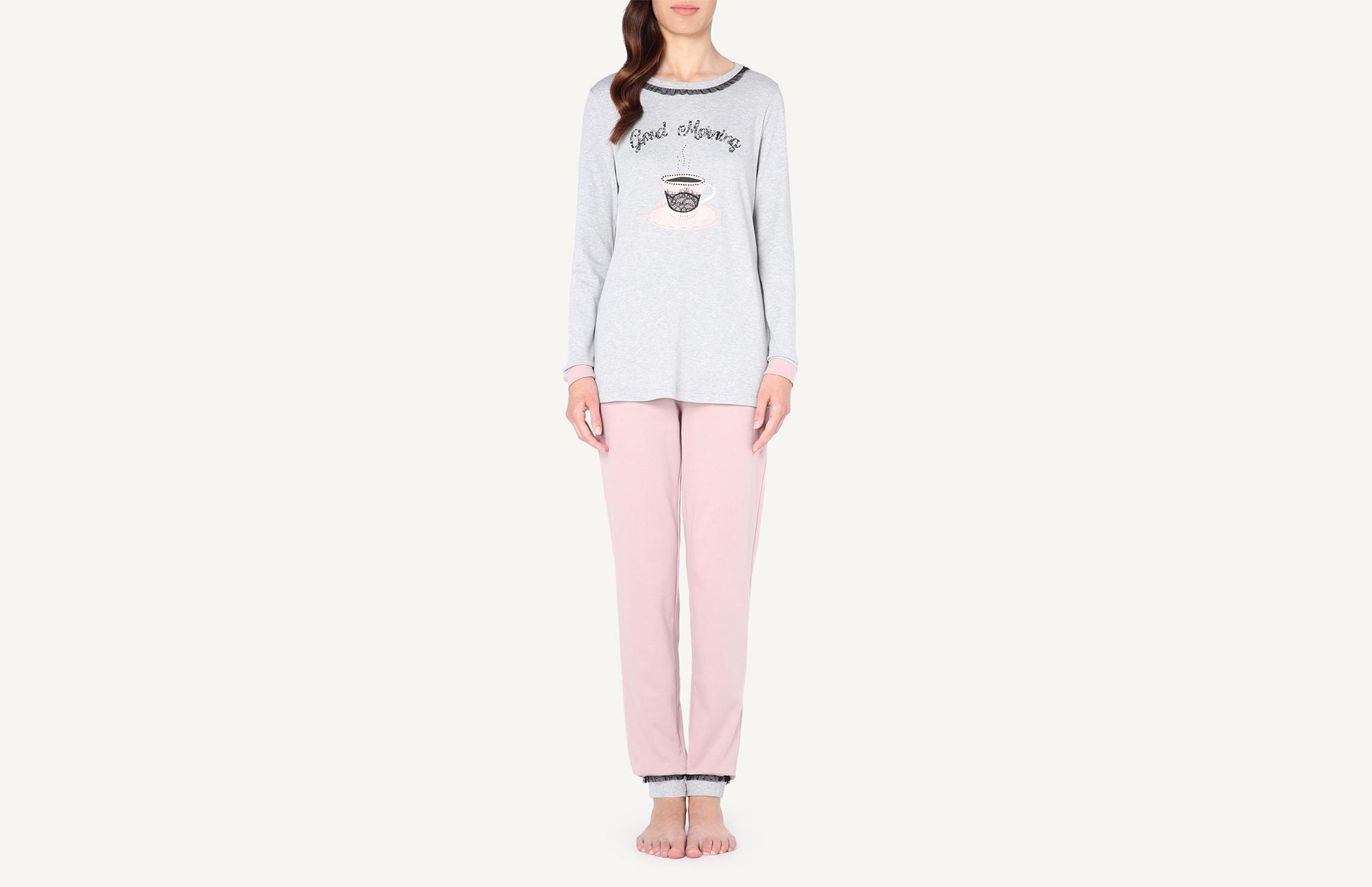 b9fdf3876119 Good Morning Cotton Pajama Set - Intimissimi
