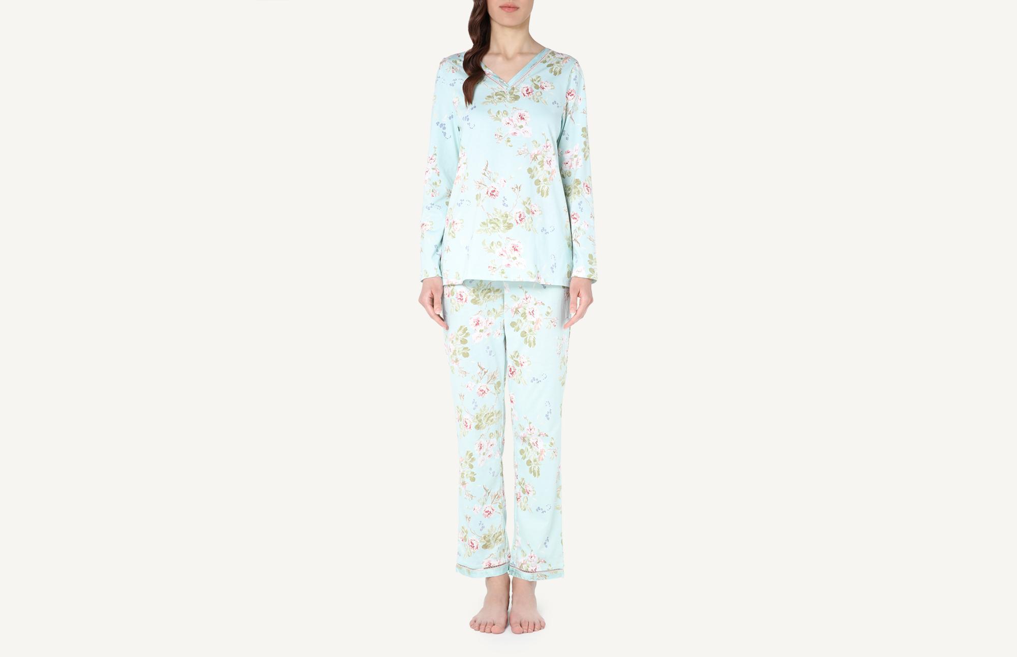 909f88f00d Delicate Flowers Long Supima Cotton Pyjamas - Intimissimi