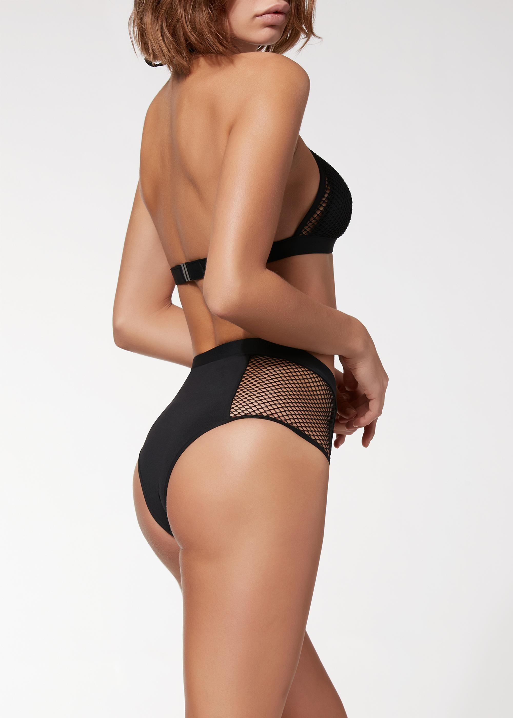 più economico 146f4 b7d51 Slip Bikini Vita Alta Tamara Rete - Calzedonia