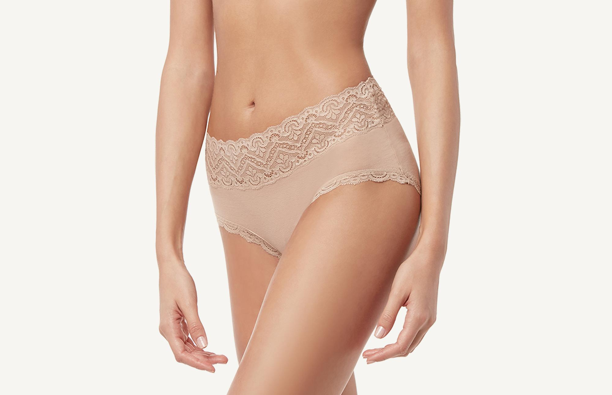 c2edf84b2e5e7 High-Waisted Cotton and Lycra Lace Panties - Intimissimi