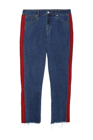 27305ed65ae2 Regular Jeans mit Seitenstreifen