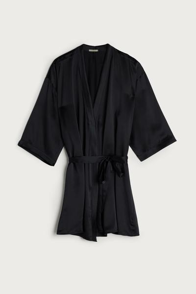Купить Silk Kimono - NERO - M/L - Intimissimi