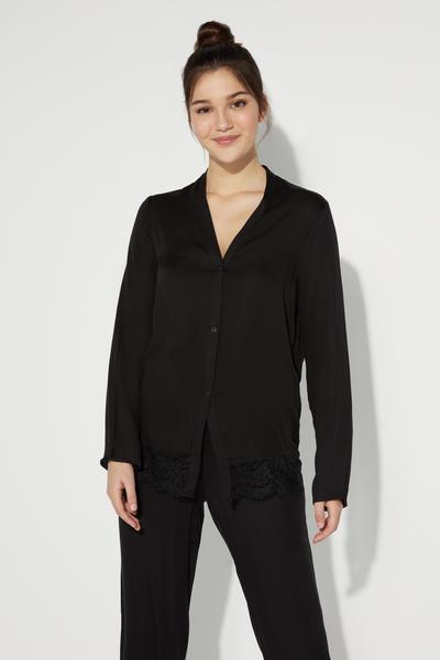 Long-Sleeved Soft Viscose Top