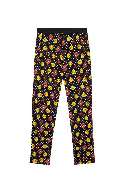 Long Emoji Kiss All Over Pants