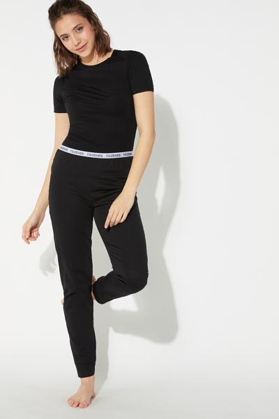Long Pants in Logo Cotton