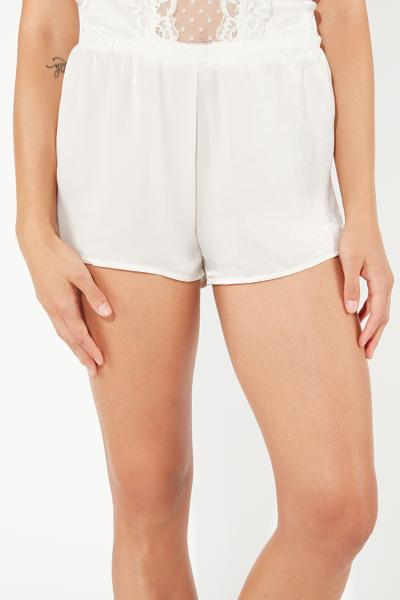Basic Soft Szatén Short