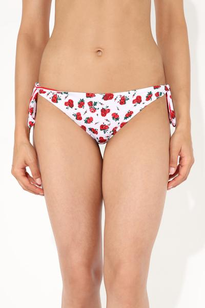 Microflower Brazilian Bikini Bottoms with Bows