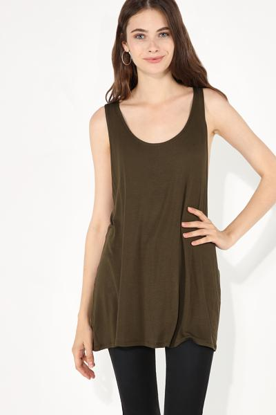 Sleeveless Viscose Top