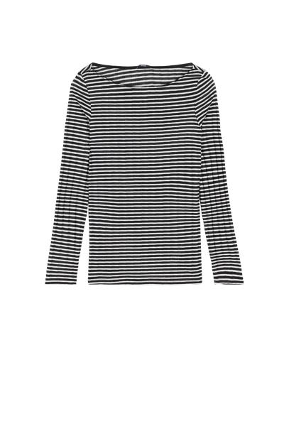 Long Sleeve Top with Boat Neckline