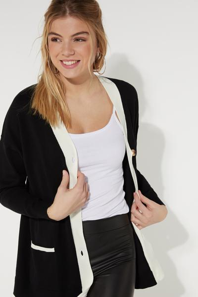 V Neck Cardigan with Buttons