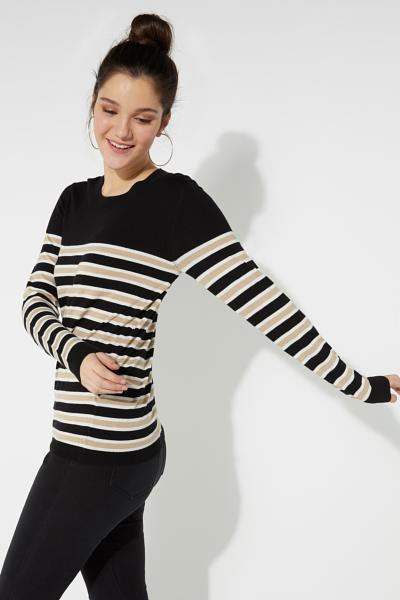 Long-Sleeved Striped Shirt