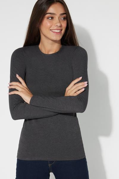 Langarm-Shirt Thermobaumwolle