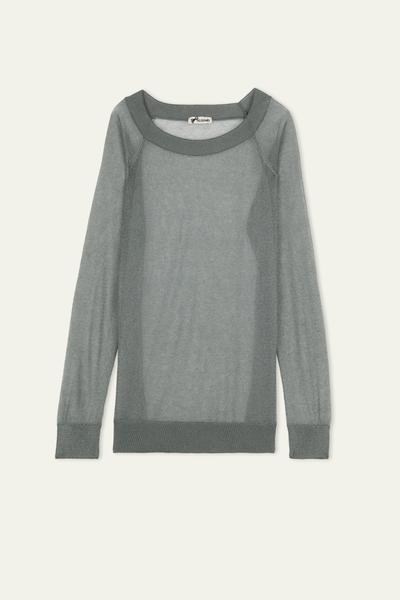 Long Sleeve Ultralight Lurex Top