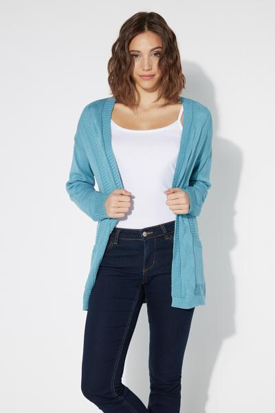 Long-Sleeved Loungewear Open Cardigan