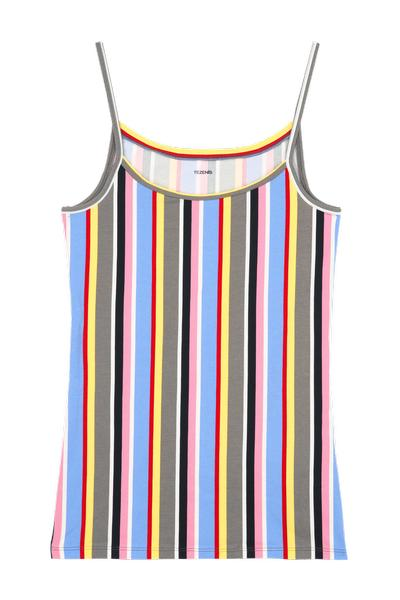 Round-Neck Stretch-Cotton Vest Top