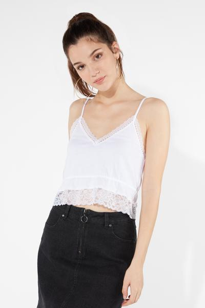 Cotton and Lace Top