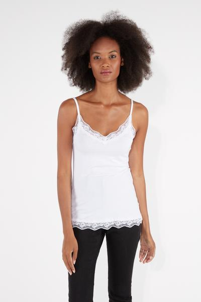 Lace Insert Vest Top