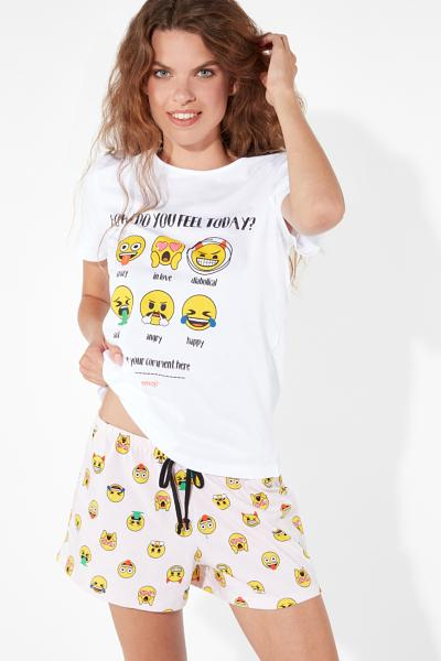 Short Laughing Emoji Pyjamas
