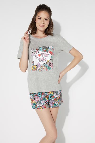 Pyjama Court Imprimé Années 90
