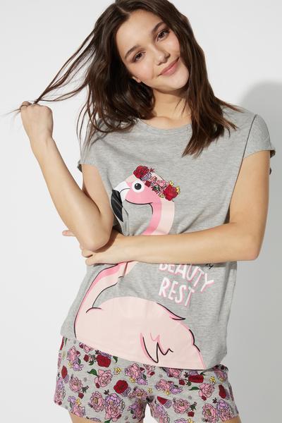 Kurzer Pyjama Flamingo