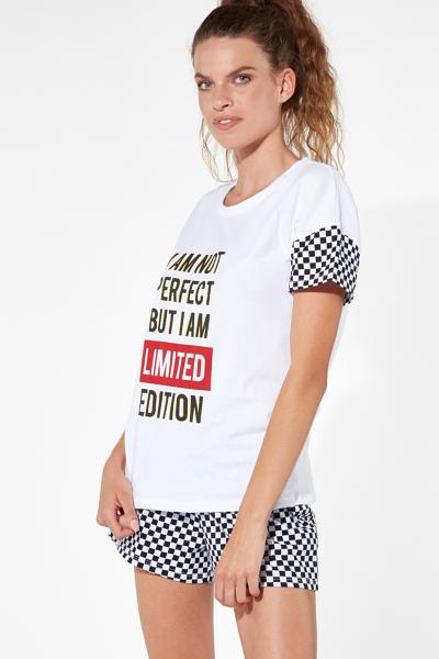 Short Chessboard Patterned Pyjamas