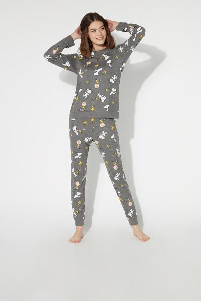 Langer Pyjama mit Peanuts© and Friends-Motiv