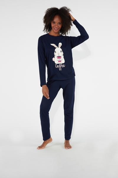 Pijama Largo Bunny Coffee