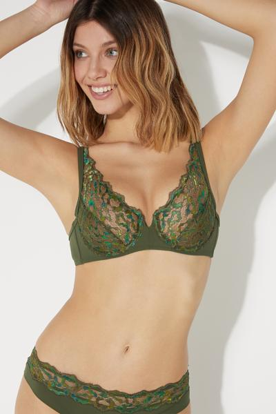 Paris Jungle Dew Balconette Bra