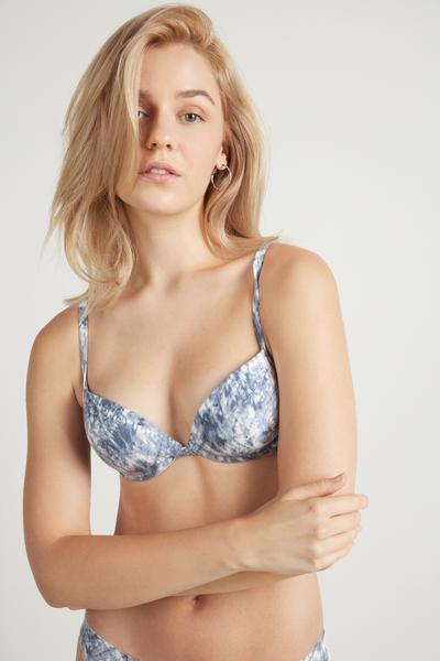 Moscow Printed Push-Up Bra