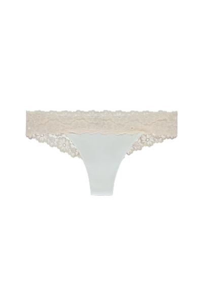 Brazilian Panties in Cotton and Lace