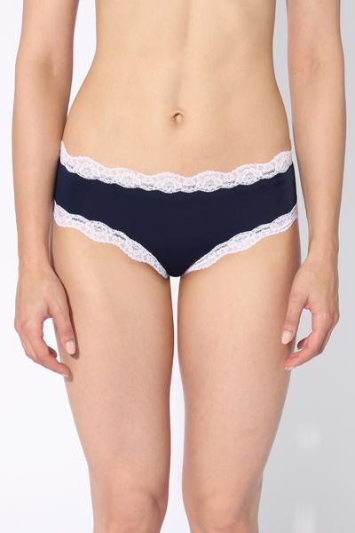 Lace and Microfiber Cheeky Culotte