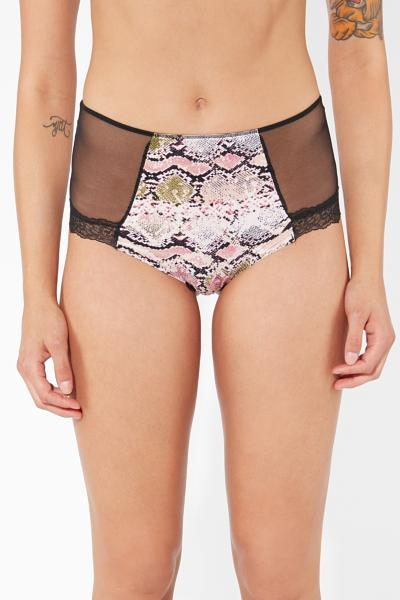 Pink Snake High-waist Slip Panties