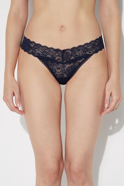 High-Leg-Cut Lace G-String
