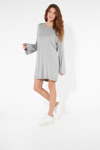 Long-Sleeved Oversized Jumper Dress