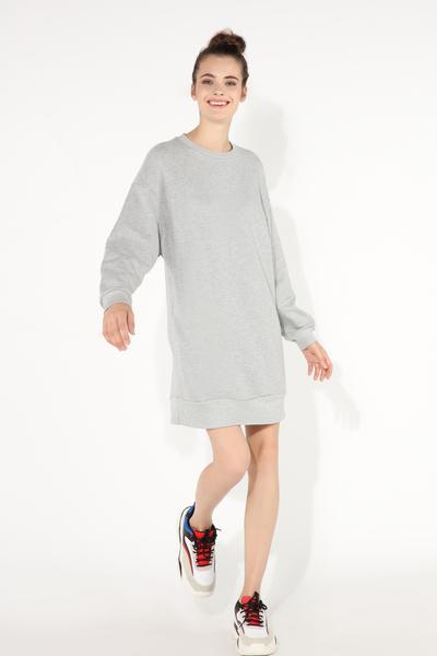 Vestido Oversize em Felpa