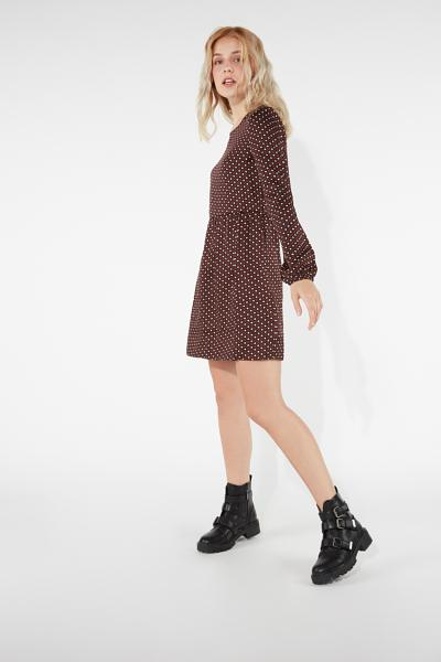 Long Puff Sleeves Short Dress