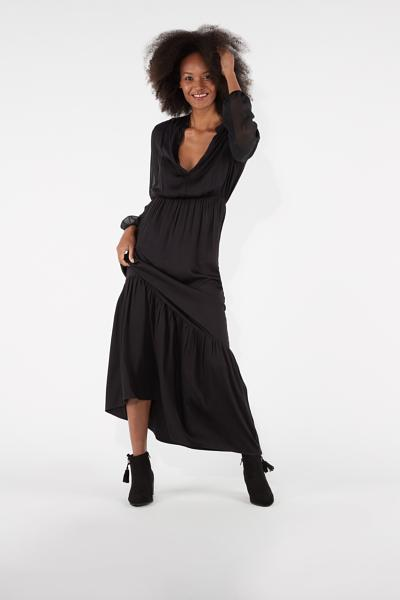 Long V-neckline Dress