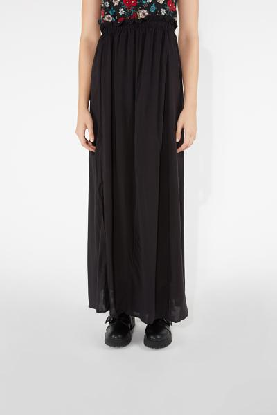 Long Skirt with Front Slit Detail