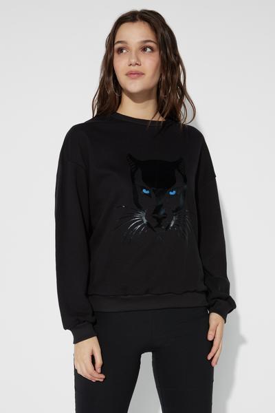 Long-Sleeved Print Sweatshirt