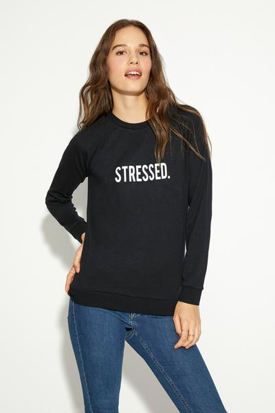 Long-Sleeved Round-Neck Top