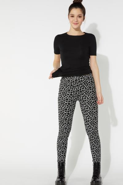 Printed Leggings in Milano Stitch Viscose